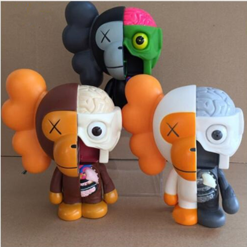 8 Inch Originalfake KAWS BAPE Anatomical apes MILO Dissected Companion Action Figure Collectible Model Toy DE65 cd guano apes offline