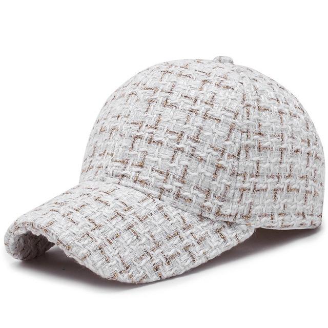 Women Plaid Hat Baseball...