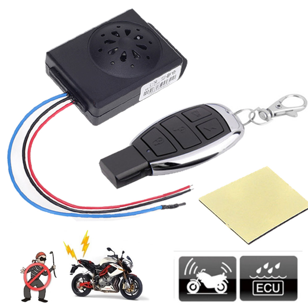 Master Racing Motorcycle Alarm Scooter Moto Anti-theft Security Alarm System DC 12V Motorbike Bike Alarms With Remote Control