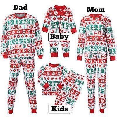 Sell Family Matching Christmas Pajamas Set Women Men Baby Kids Sleepwear Nightwear