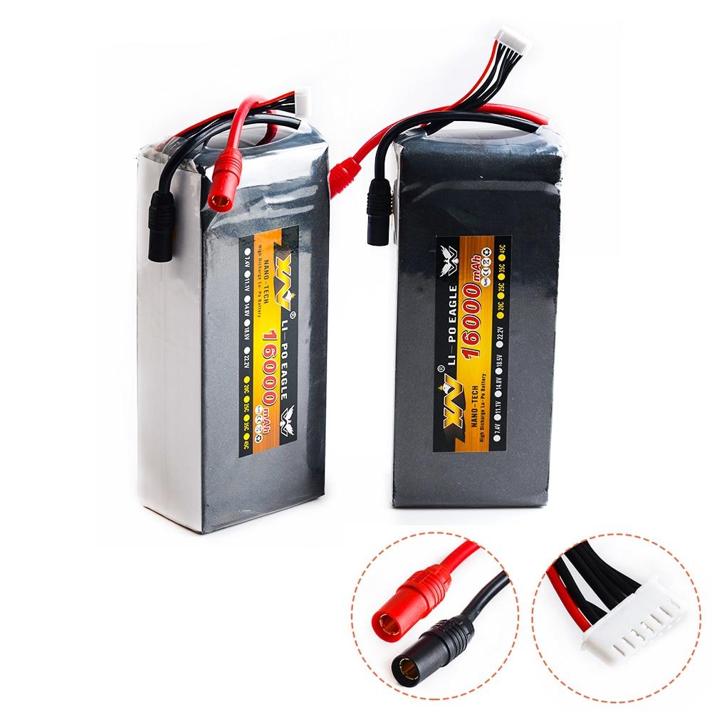1 pièces RC Lipo batterie 22.2 v 16000 mah 15c 6S1P li-po batterie AS150 prise pour RC Protection des plantes aéronef sans pilote (UAV) Rc Multicopter FPV RC Drone
