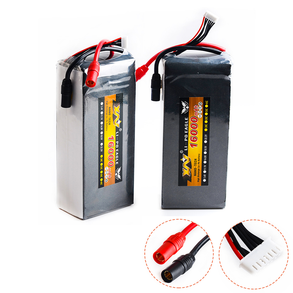 1pcs RC Lipo Battery 22.2v 16000mah 15c 6S1P Li-Po Battery AS150 Plug For RC Plant Protection UAV Rc Multicopter FPV RC Drone 1pcs 100% orginal firefox 11 1v 1500mah 15c li po aeg airsoft battery f3l15c drop shipping