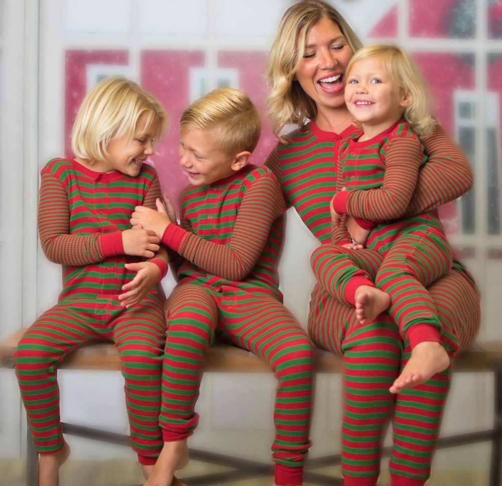 Detail Feedback Questions about Family Matching Outfits Striped Onesies  Christmas Pajamas Family Look Mother Daughter Son Clothes Family Pajamas  Baby ... 7e6a19039
