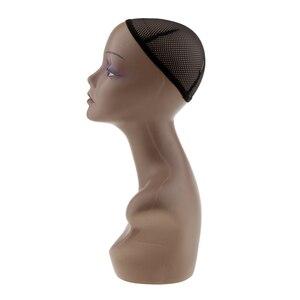 Image 2 - Femme Mannequin tête buste perruque chapeau bijoux collier Salon affichage modèle Mannequin et Net casquette bijoux chapeau affichage modèle