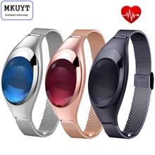 Mkuyt Z18 женские часы smart кронштейн с кровью Давление монитор сердечного ритма шагомер фитнес-трекер для iOS и Android