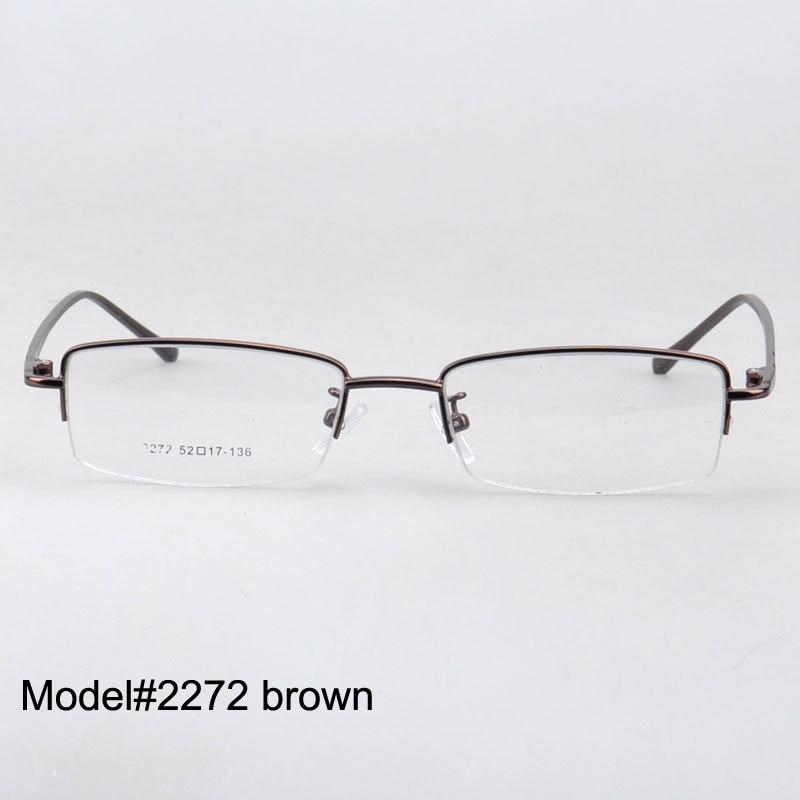 Magic Jing 2272 Rectangle men half rim eyeglasses thin temple RX ...