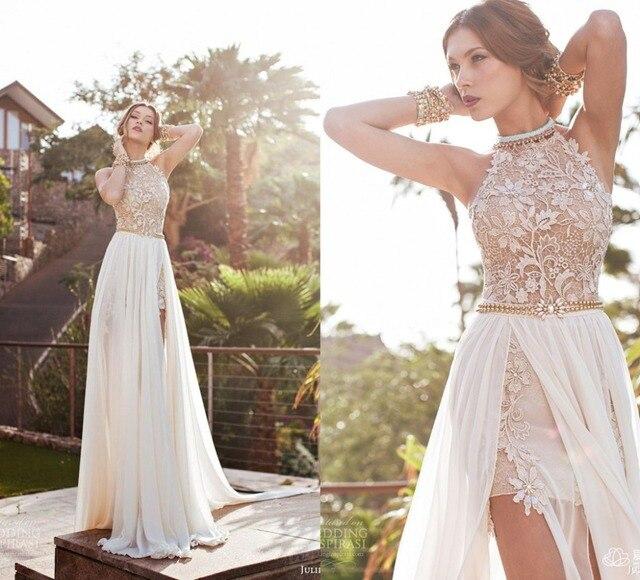 9c37e8e7f Blanco largo De la gasa Vestidos 2015 With apliques De perlas elegante  Vestidos De noche Vestidos