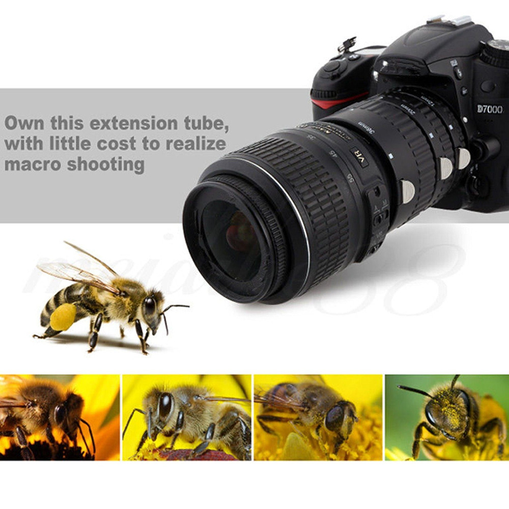 SHOOT Auto Focus Macro Extension Tube Set for Nikon D3200 D3300 D5200 D7100 D5300 D7200 D7000