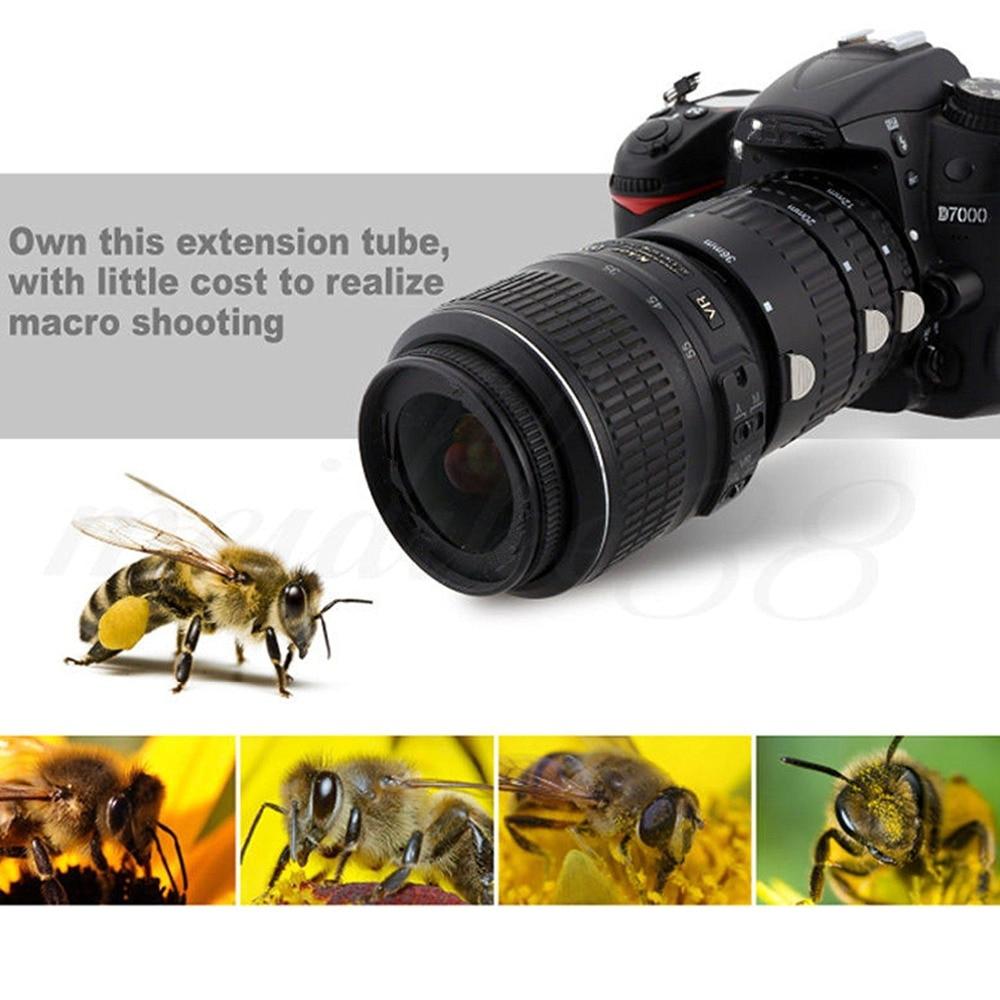TIRER Auto Focus Tube Extension Macro Set pour Nikon D3200 D3300 D5200 D7100 D5300 D7200 D7000 D3100 D90 D5100 D5500 numérique REFLEX