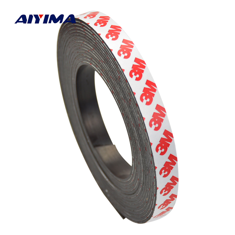 Aiyima 1M 20*2mm Stripe Neodymium Magnet Rubber Soft Magnets Strong Magnetic Tape Sheet Material цена и фото