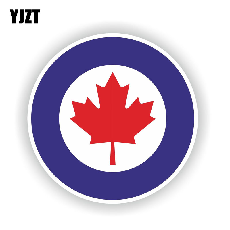 YJZT 12CM*12CM Personality Car Sticker Canada RCAF Air Force Motorcycle PVC Decal 6-1541