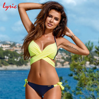 Lyric Hot Bandage Bikini Set 2017 Swimsuit Tanga Bottoms Swimwear Women S Swimming Suit Strappy Brazilian