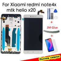 Oryginalny wyświetlacz Snapdragon 625 dla XIAOMI Redmi Note 4X ekran dotykowy LCD z ramką dla Redmi Note 4X globalne części wyświetlacza LCD