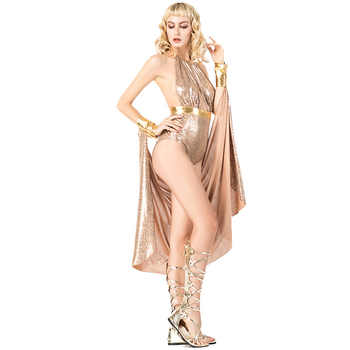 Sexy Woman Halloween Cleopatra Costumes Female Greece goddess Athena Cosplay Carnival Purim stage play Nightclub Bar party dress
