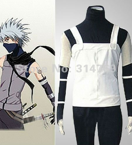 Manga Amime Naruto Costume- Naruto Hatake Kakashi Men's Anbu Cosplay clothes Costume,Halloween Party Cosplay