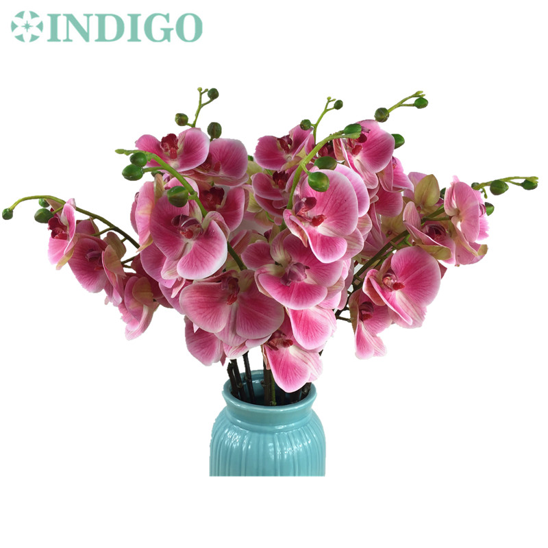 INDIGO  Purple Phalaenopsis Orchid Real Touch Moth Orchid Butterfly Wedding  Table Flower Party AliExpress Standard Part 48