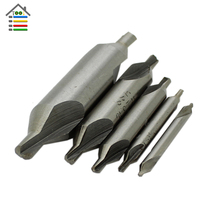 Hot Sale 5 PCS HSS Combined Center Drills Bit Set Countersinks 60 Degree Angle DIY Hobby Tool Accessories