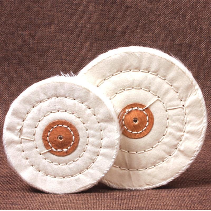 2 pcs/lot Cotton Stitch Buffing Cloth Wheel 4/100mm, 5/125mm, 6/150mm for Mirror Polishing Jewelry Metal Tool Wholesale 100 100mm drawing round 100mm jewelry drawing cotton wheel for jewellery polishing