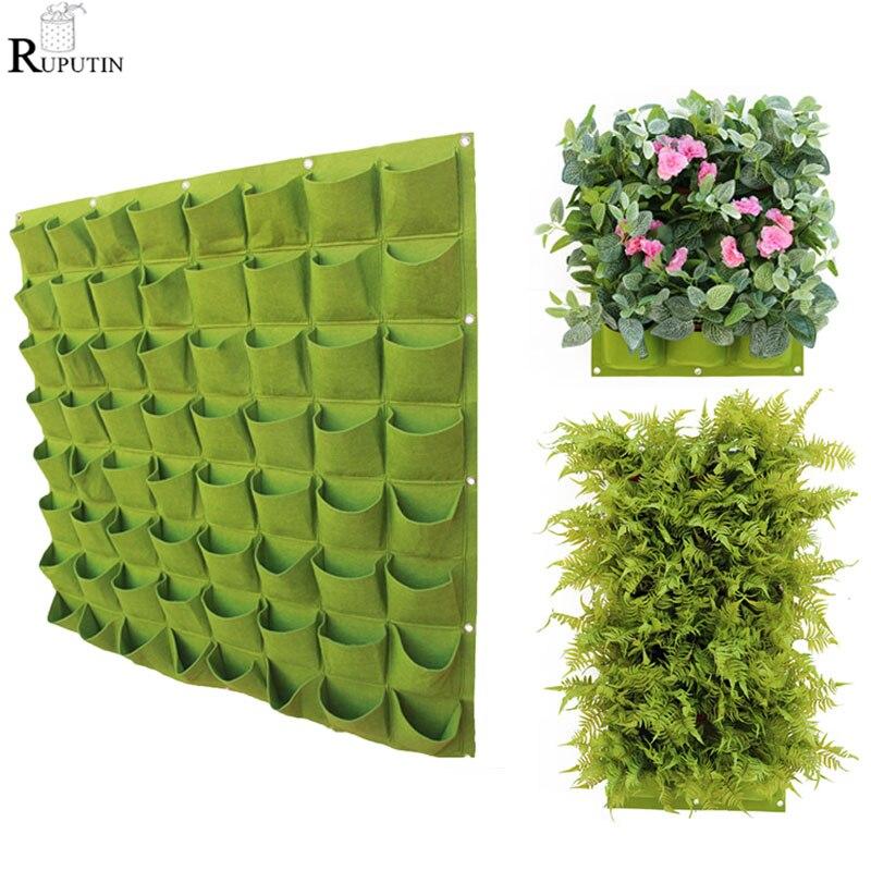 Подвесные пакеты для посадки на стену, вертикальный садовый мешок для выращивания овощей, 24 размера, с карманами, для бонсая, цветов, товары ...