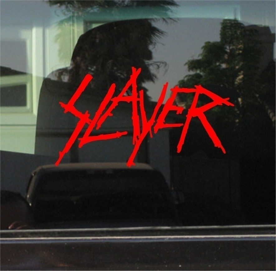 SLAYER VINYL DECAL / STICKER 15cm
