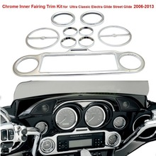 Chrome Inner Fairing Trim Kit for Ultra Classic Electra Glide Street 2006-2013 FHADA284