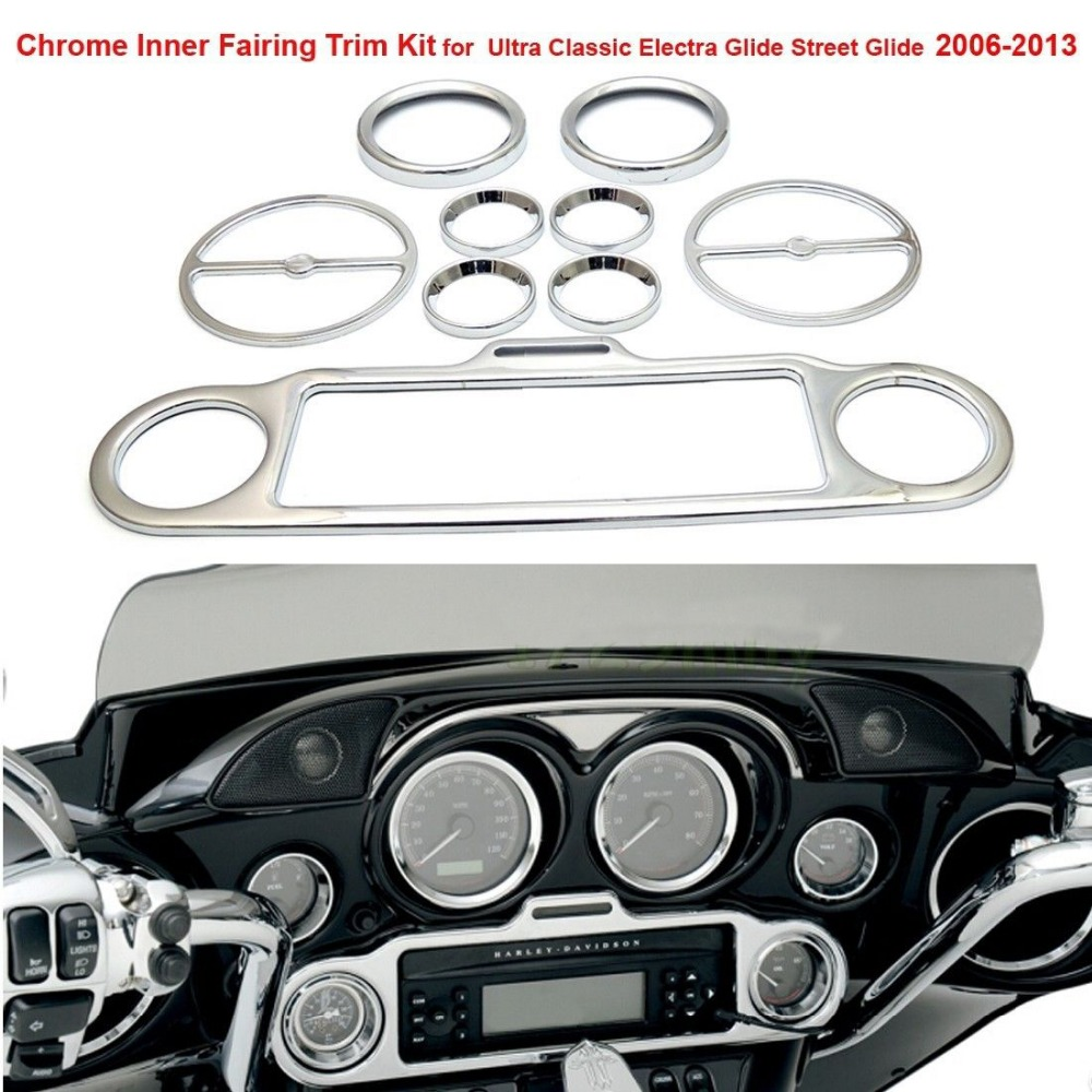 KEMiMOTO Inner Fairing Trim Kit for Harley Ultra Classic Electra Glide Street 2006 2007 2008 2009 2010 2011 2012 2013 for nissan qashqai 2008 2009 2010 2011 2012 2013 car inner decoration trim