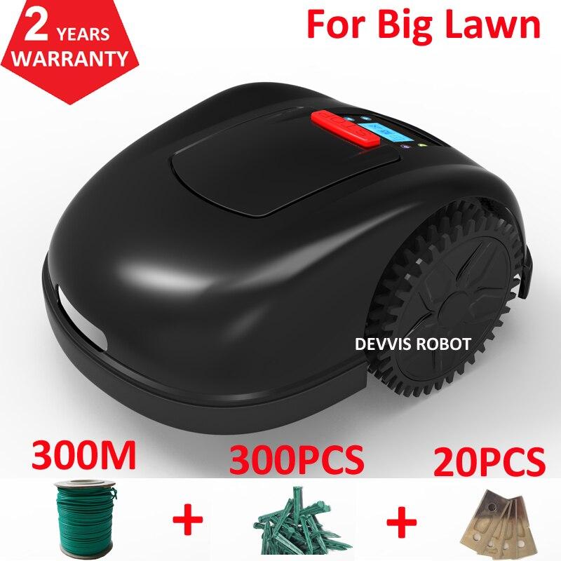 Cortador de hierba Robot inteligente Contorl con aplicación de teléfono inteligente de dos años de garantía con batería Li-ion de 300 Ah + Cable de 300 m + piezas clavijas + hoja 20 piezas