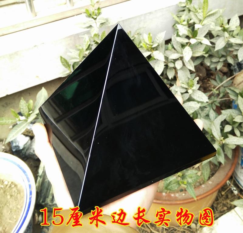 3000g 6.5LB naturel. obsidienne quartz pyramide point de guérison Livraison gratuite