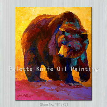 Oil painting On Canvas Wall Pictures Paintings For Living Room Wall Art Canvas Pop art bear modern abstract hand painted 2