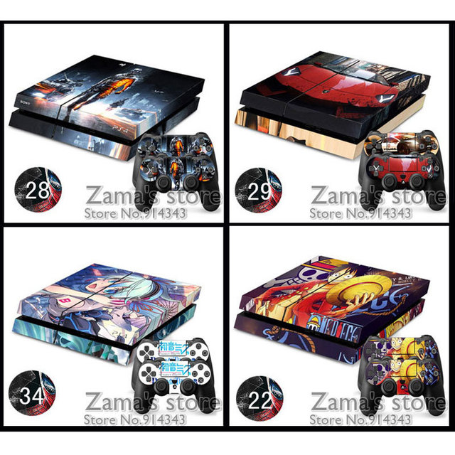 14 Style Cartoon Girl Car Game Picture Sticker Skin For Ps4 And With