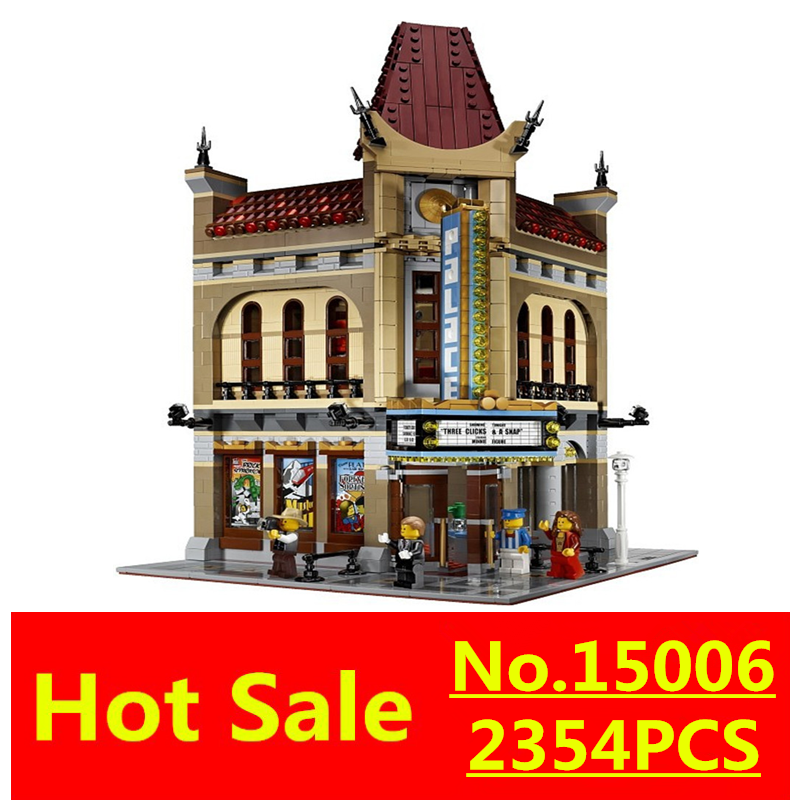 ФОТО Palace Cinema Model Building Blocks Classic LEPIN 15006 2354Pcs Creator Series Compatible 10232 City Street ToyS Christmas