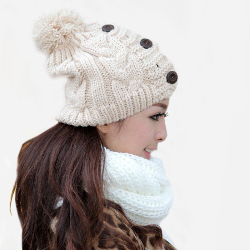 Women's Cap Beanie Women's Knitted Hats Crochet Winter Hats For Women Female Casual Skullies Beanies Winter Hats And Caps Women 2017 winter women beanie skullies men hiphop hats knitted hat baggy crochet cap bonnets femme en laine homme gorros de lana