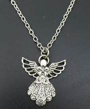 10 PCS Angels Charms Alloy Pendants Necklaces Vintage Antique Silver Jewelry Gift New(China)