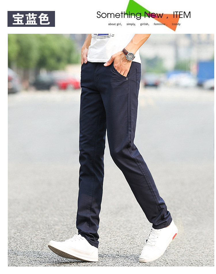 Business Casual Pants 11 Colors New Casual Pencil Pants Men Slim Pant Straight Trousers Solid Leisure Zipper Spring Summer k919 22