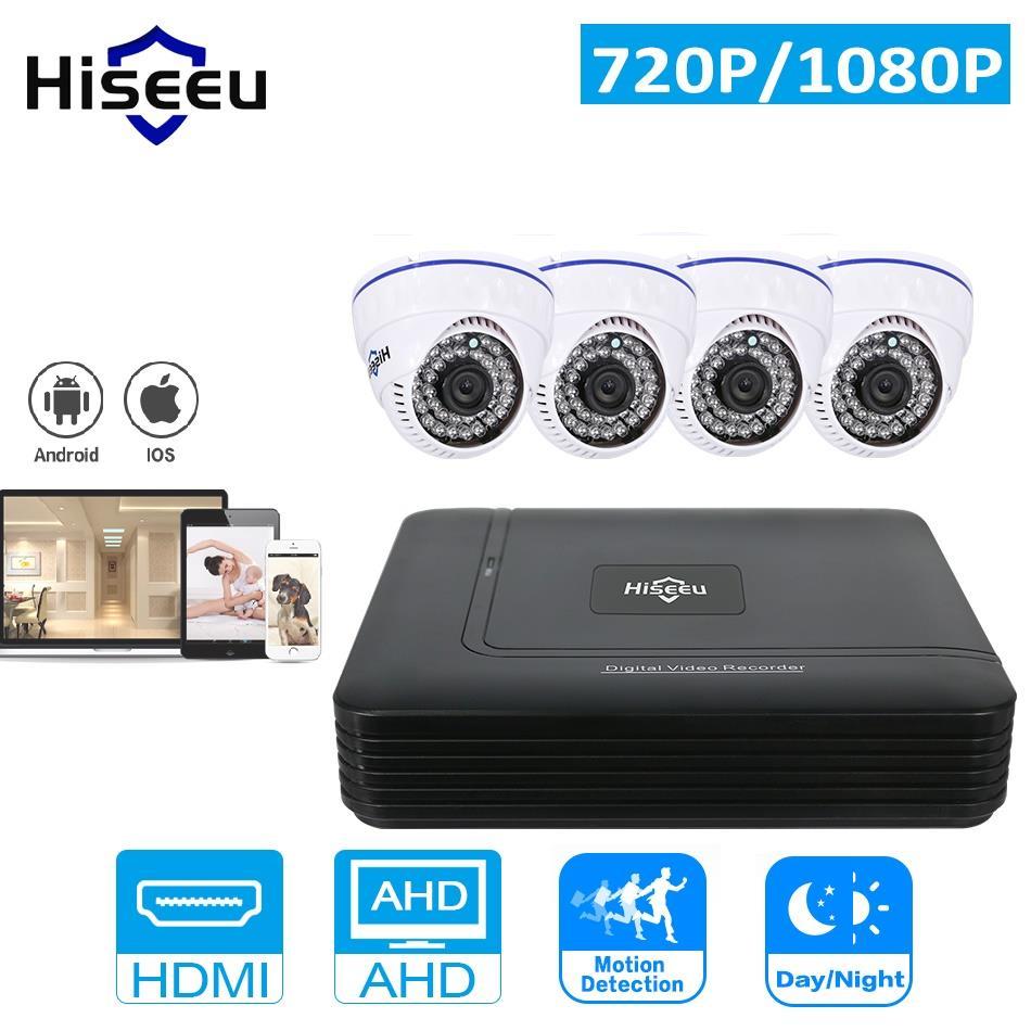 AHD ufficio dome telecamera di sicurezza cctv sistema registratore digitale con wired 4 pz 1080 P cam a infrarossi