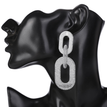 XIYANIKE Brand Geometry Frosted Link Acrylic Drop Earrings For Women Vintage Maxi Statement Boho Earrings Fashion Jewelry E1660