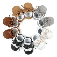 Wonbo Handmade Baby pierwsze Walkers Baby Moccasin Baby Shoes PU skórzane Prewalkers buty dla dzieci tanie tanio Dziecko First Walkers Masz Pasuje do rozmiaru Weź swój normalny rozmiar Unisex Wszystkie sezony Sznurowane Stałe Patch