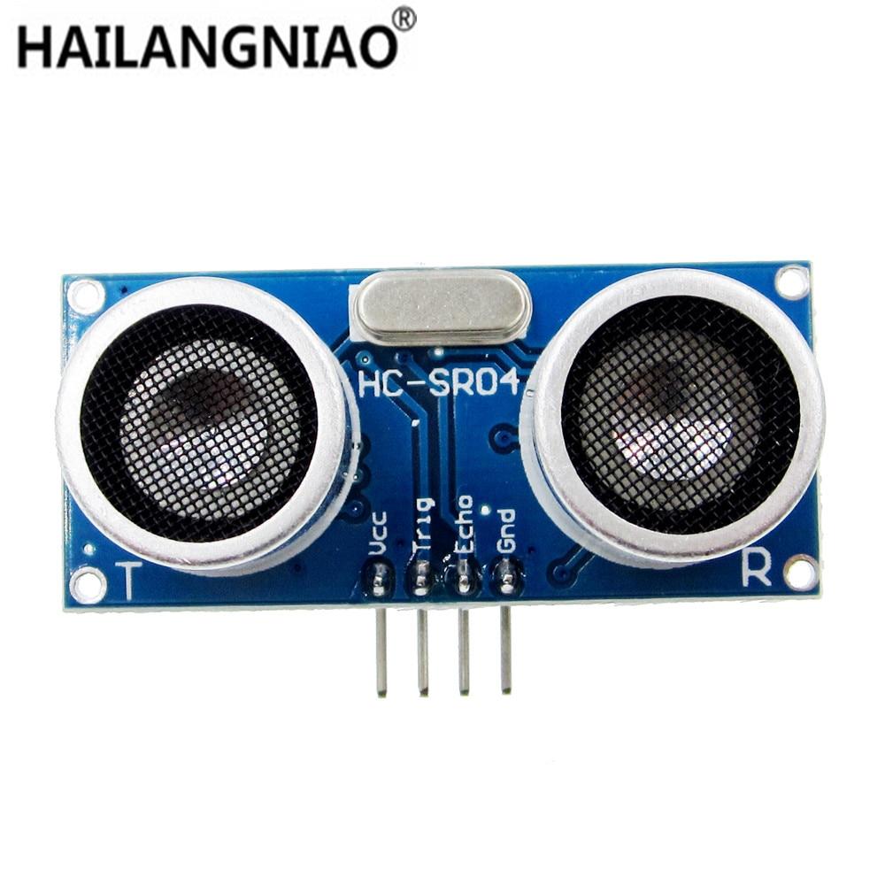 10pcs Ultrasonic Module HC-SR04 Distance Measuring Transducer Sensor HC SR04 HCSR04 dmdg d03 ultrasonic smart car mounted holder w hc sr04 ultrasonic sensor distance measuring module