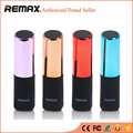 Remax mini batom power bank 2400 mah portátil powerbank bateria externa telefones celulares carregador de bateria externa para iphone 6 s/6