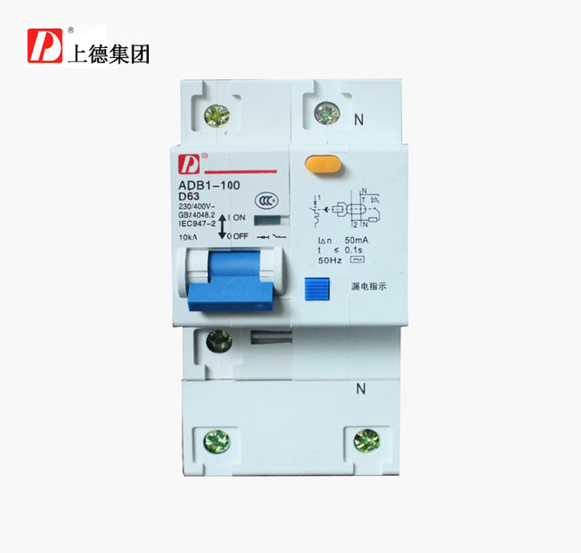 Tak on ADB1LE small DZ47LE 1P+N 63A circuit breaker with GFCI ...