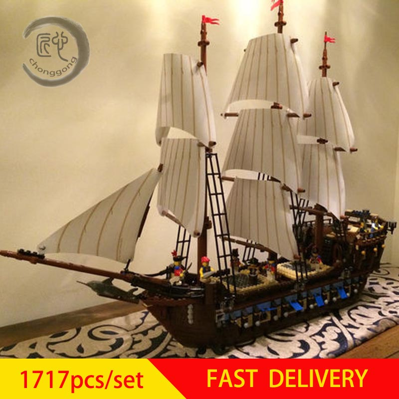 Nouveau bateau Pirate navires de guerre modèle fit legoings 10210 Kits de construction bloc Briks garçon jouets éducatifs modèle cadeau d'anniversaire