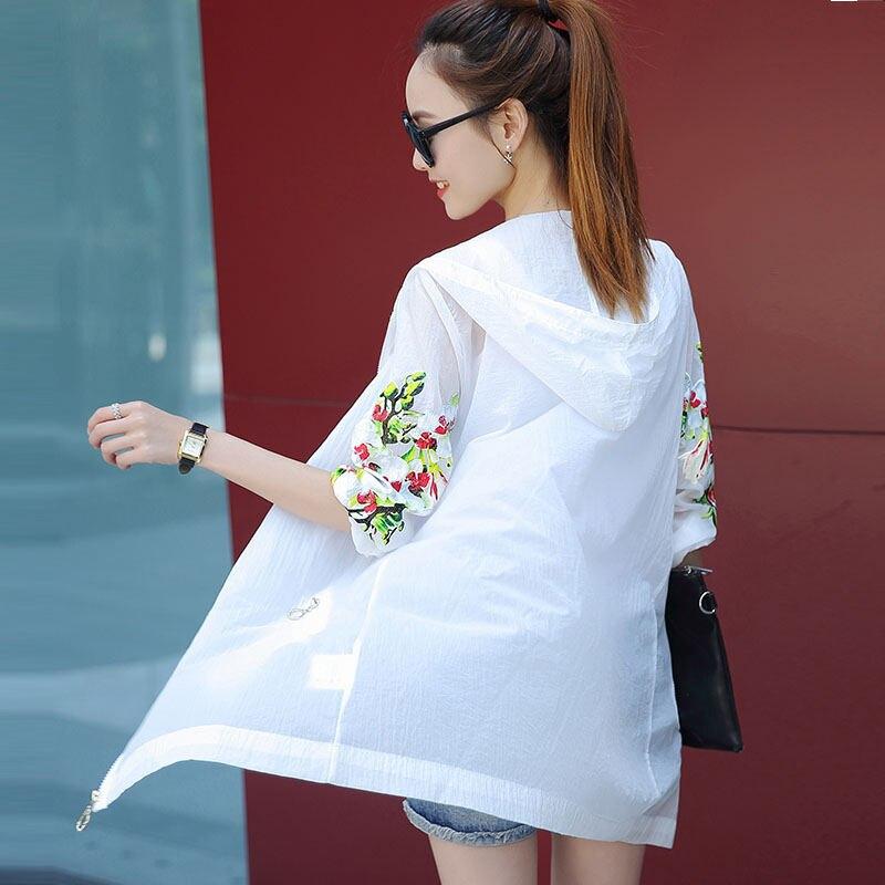 Casual Jacket Women Print Long Sleeve Basic Jacket Femme Outerwear Streetwear Lady Summer Beach Sunscreen Jacket Oversized Q1315