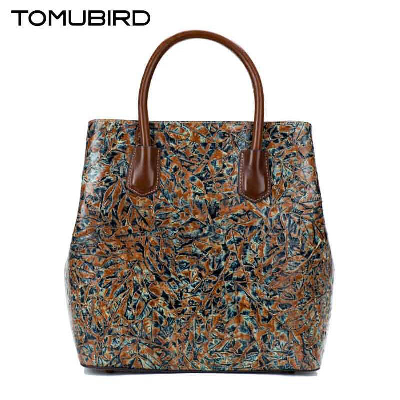 TOMUBIRD New superior cowhide leather designer Classic embossed floral genuine Leather tote women Shoulder Handbags 247 classic leather