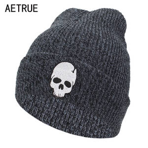 a4bf5a6003d AETRUE Knitted Men Winter Hats For Women Bonnet Mask Cap