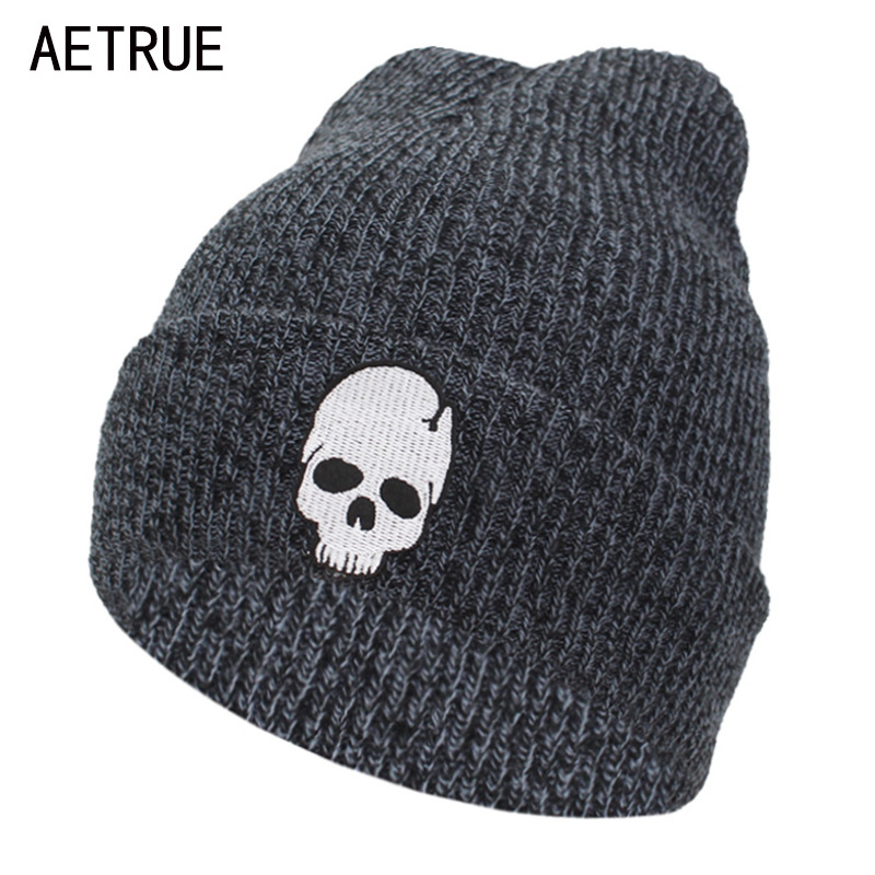 AETRUE Winter   Skullies     Beanies   Knitted Hat Men Winter Hats For Women Fashion Bonnet Soft Mask Skull Cheap Gorros   Beanie   Hats Cap