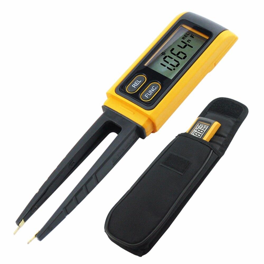 купить Multimeter Tweezer Resistance Capacitance Diode SMD Tester Continuity Check R/C/D MultiMeter for Surface Mount Devices по цене 2137.16 рублей