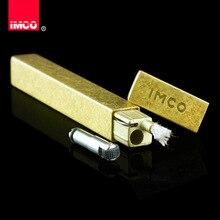 Оригинальная мини зажигалка IMCO, тонкая зажигалка, оригинальная бензиновая Зажигалка для сигар, чистая медь, бензин