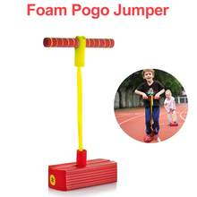 Foam Pogo Jumper For Kids Fun And Safe Pogo Stick For Toddlers Durable Foam And Bungee Jumper For Children Toys Gift(China)
