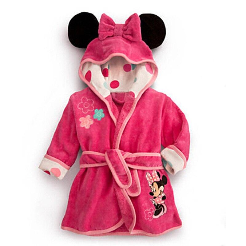 Baby Boys Robe For Girls 2018 Children\'s bathrobe Minnie Mickey Soft ...