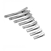 20pcs Silver Flat Metal Single Prong Alligator Clip Crocodile Hair Barrette Hairpin for DIY Accessories 32mm - 95mm